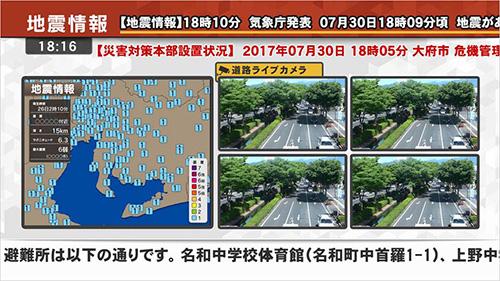 地震情報のイメージ