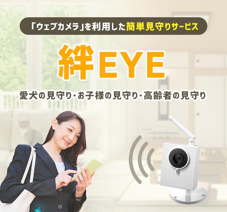 「ウェブカメラ」を利用した簡単見守りサービス 絆EYE