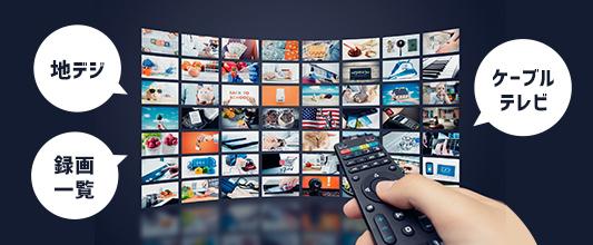 地デジや録画一覧、ケーブルテレビ